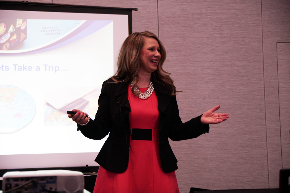 Speaker doing her presentation